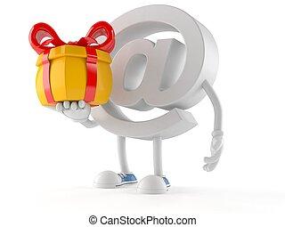 tenencia, regalo, e-mail, carácter