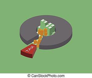 tener, ingresos, o, receiving, sueldo, impuesto, personal, paga