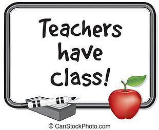 tener, profesores, class!