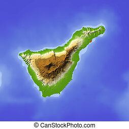 Tenerife, mapa de socorro
