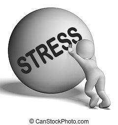 tensión, énfasis, carácter, cuesta arriba, presión, exposiciones