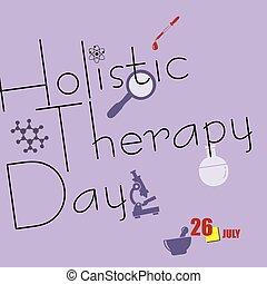 terapia, día, holístico