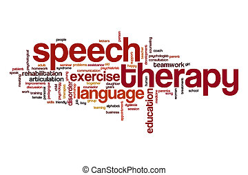terapia, discurso, nube, concepto, palabra