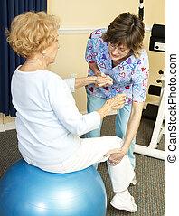 Terapia física con baile de yoga