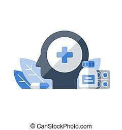 Terapia médica, farmacia y medicinas, medicinas, antibióticos, remedio para el dolor de cabeza, servicios de salud