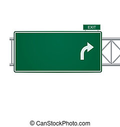 Tercer vector en blanco señal de carretera