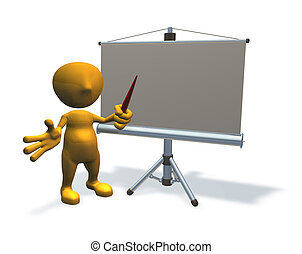 Tercera personalidad con equipo de presentación