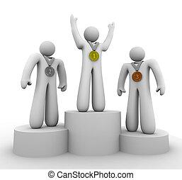 tercero, -, segundo, ganadores, lugar, medallas, primero