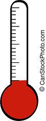 termómetro, bajo, temperatura