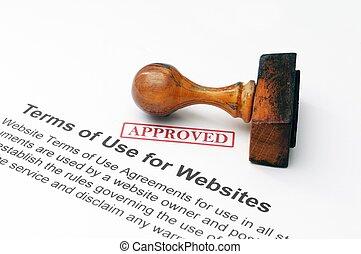 Termas de uso para sitios web - aprobado