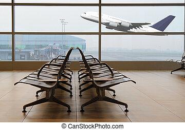 terminal, aeropuerto
