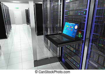 terminal, habitación, servidor