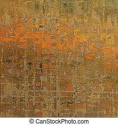 Terreno texturado áspero, fondo añejo abstracto con diferentes colores: amarillo (beige); marrón (naranja); gris