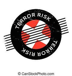 terror, caucho, riesgo, estampilla