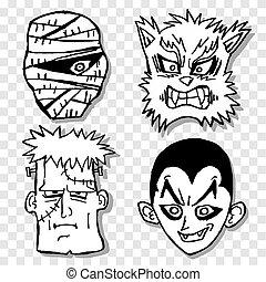 terror, máscara