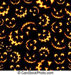terror, patrón, halloween, plano de fondo