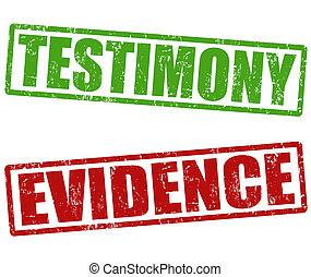 Testimonio y sellos de evidencia