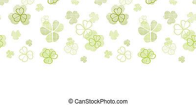 Textil de Clover línea textured de arte horizontal fondo sin costura
