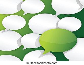 texto, arriba, ilustración, muchos, cierre, globos