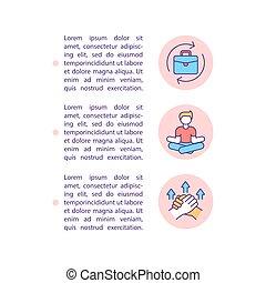 texto, concepto, madurez, prevención, crisis, línea, iconos