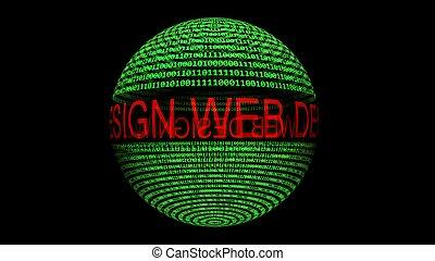texto, diseño, tela, esfera, datos, binario