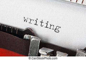 texto, escritura, retro, máquina de escribir