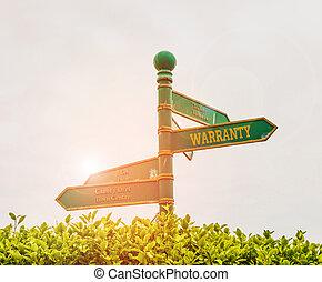 texto, mantenimiento, azul, libre, significado, servicio, vendido, concepto, cielo, señal, fondo., camino, verde, warranty., pasto o césped, reparación, escritura, encrucijada, producto