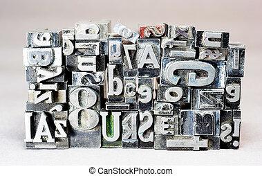 texto, metal, tipografía, typeset, obsoleto, imprenta, tipo