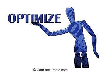 texto, modelo, optimize, ilustración