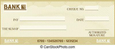 texto, poseer, su, cheque, espacio