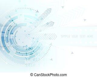 texto, resumen, flechas, raya, plano de fondo, tecnológico, círculo