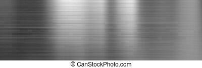 textura, acero, metal cepillado, gradiente