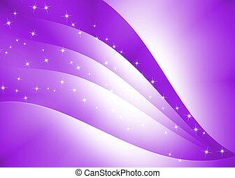 Textura curva abstracta con fondo púrpura