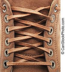 textura de encaje de zapato