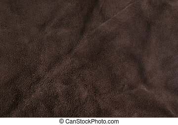 Textura de gamuza marrón suave