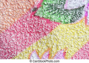Textura de macro de color