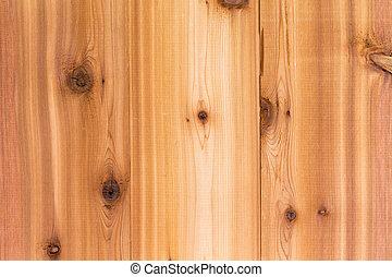 Textura de madera de cedro con tablas
