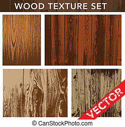 textura de madera del vector puesta