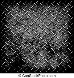 Textura de metal de placa de diamantes