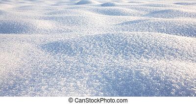Textura de nieve, escena de invierno, fondo de nieve