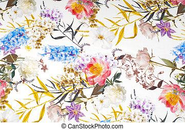 Textura de tela de seda, fondo. En colores brillantes de tela blanca. Azul rojo morado negro