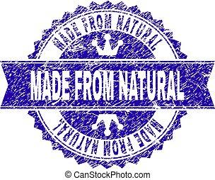 Textura grunge hecha con sello de sello NATURAL con cinta