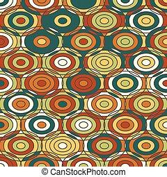 Textura ornamental de color étnico con círculos