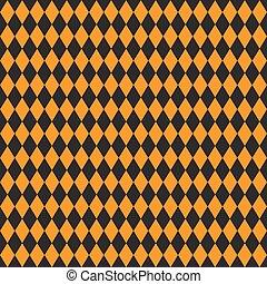 Textura sin costura de rhombuses. Colores negros y naranjas.