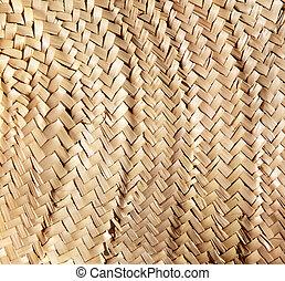 Textura tradicional entrelazada entre cestos