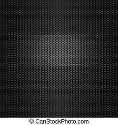 Textura vectorial sin costura de metal con marco resaltado para texto