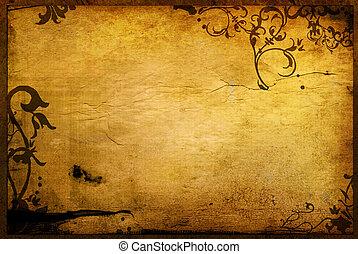 Texturas de estilo floral y marcos de fondo