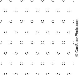texture., sonrisa, icono, cara, sonreír feliz, emoticon, seamless, patrón, fondo.