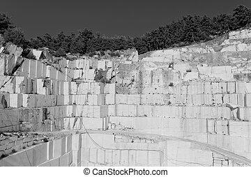 Thasos cantera de mármol blanco en Bw