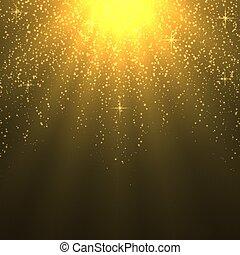 tibio, luz, rayos sol, plano de fondo, efecto